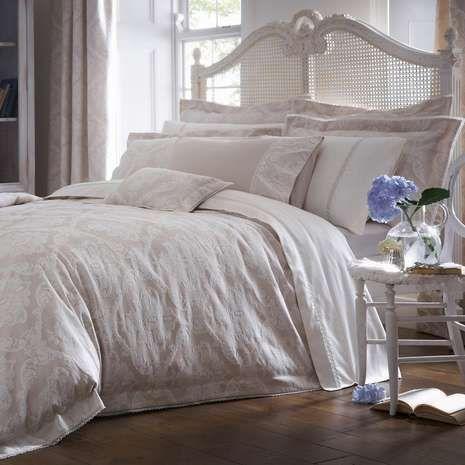 Dorma Aveline Jacquard Natural Duvet Cover   Natural bed linen ... : dorma quilted bedspreads - Adamdwight.com