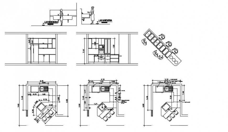 open kitchen interior detailing and top view plan dwg file cadbull in 2020 open kitchen on kitchen interior top view id=88391