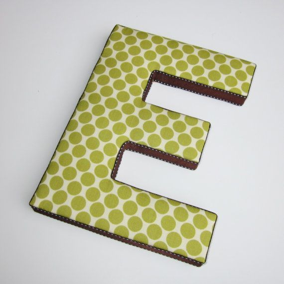 Full Moon Dots green personalized 9 inch fabric by kidsloveletters, $20.00