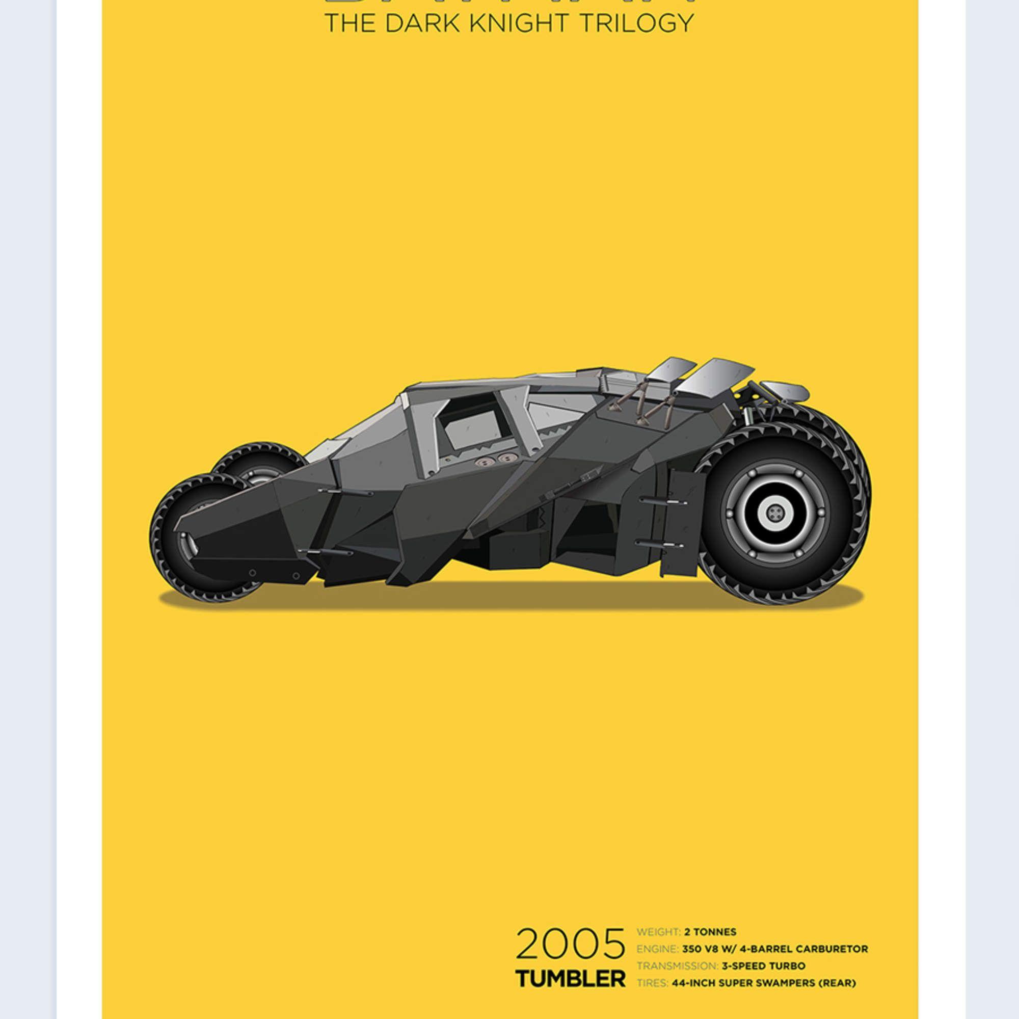 Exclusive Batman: The Dark Knight Trilogy Batmobile Poster