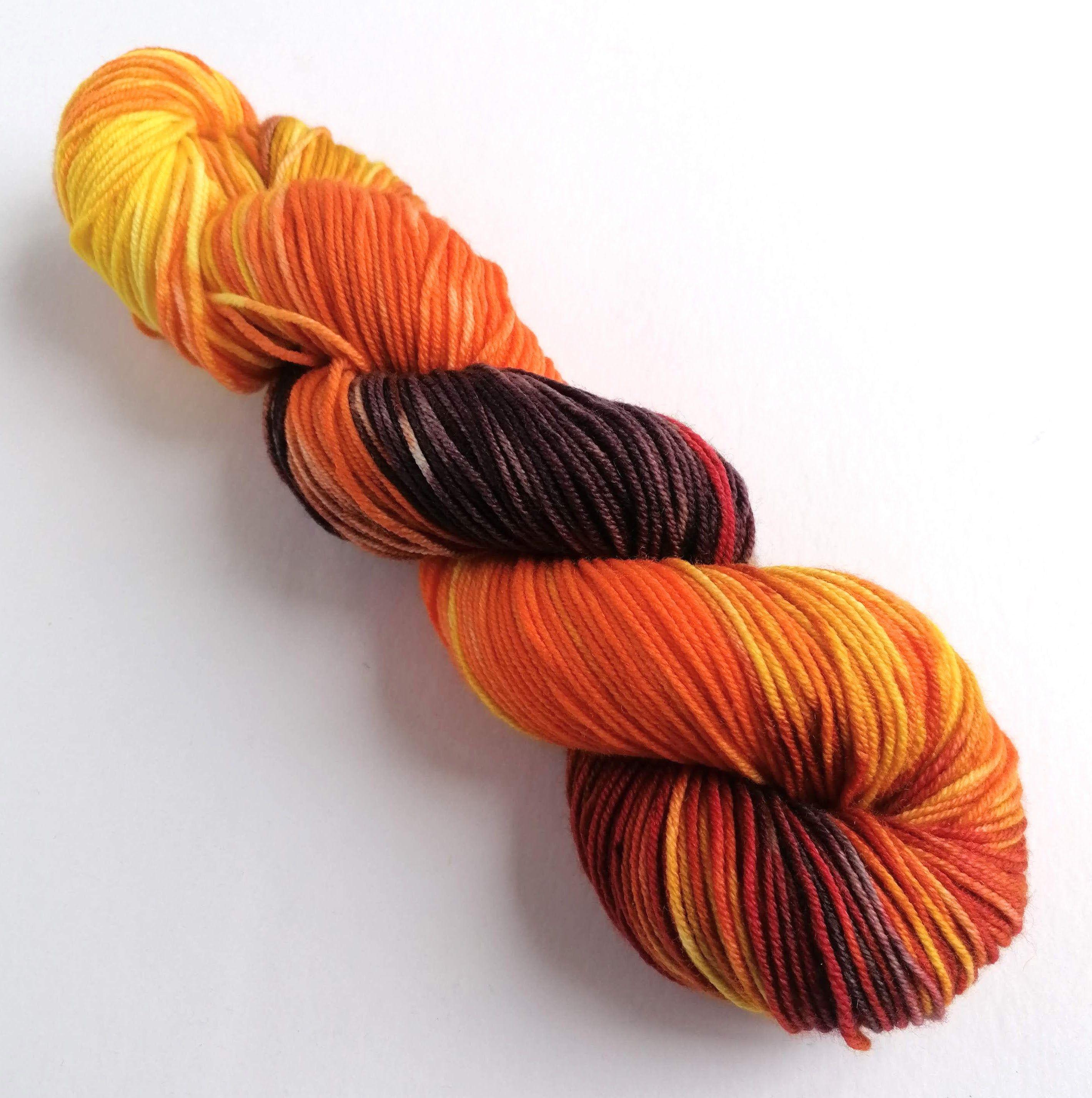 Silk blend merino DK yarn hand dyed double knit yarn navy silk and merino
