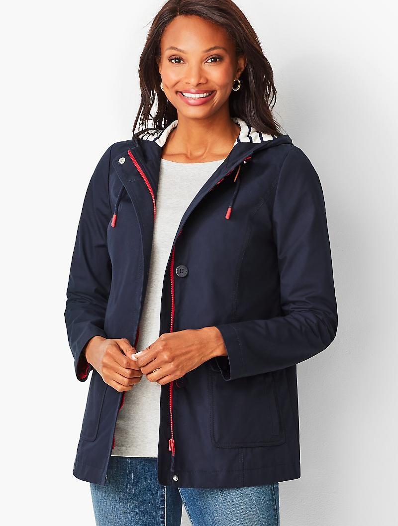 Cotton Canvas Anorak Talbots Outerwear Jackets Coats For Women Classic Style Women [ 1057 x 800 Pixel ]