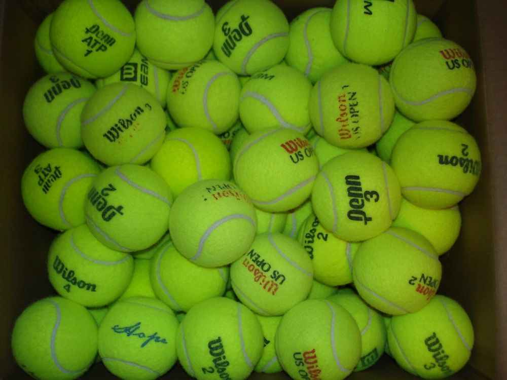Used Tennis Balls Lot Of 100 Very Clean With Images Tennis Tennis Balls Ball