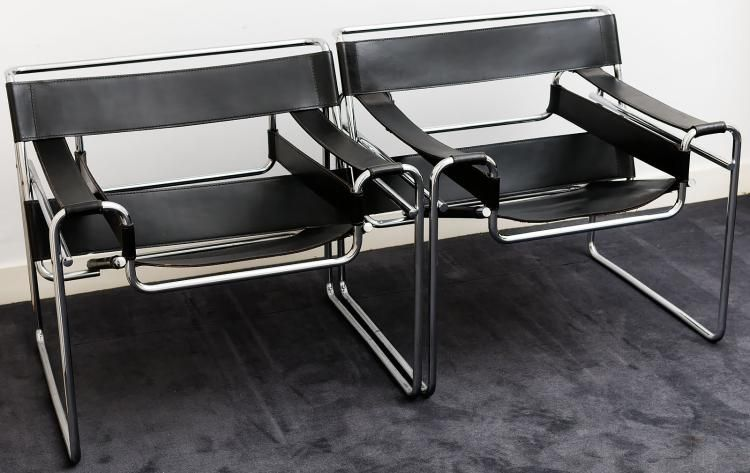 A pair of wassily chairs by marcel breuer wassily chair