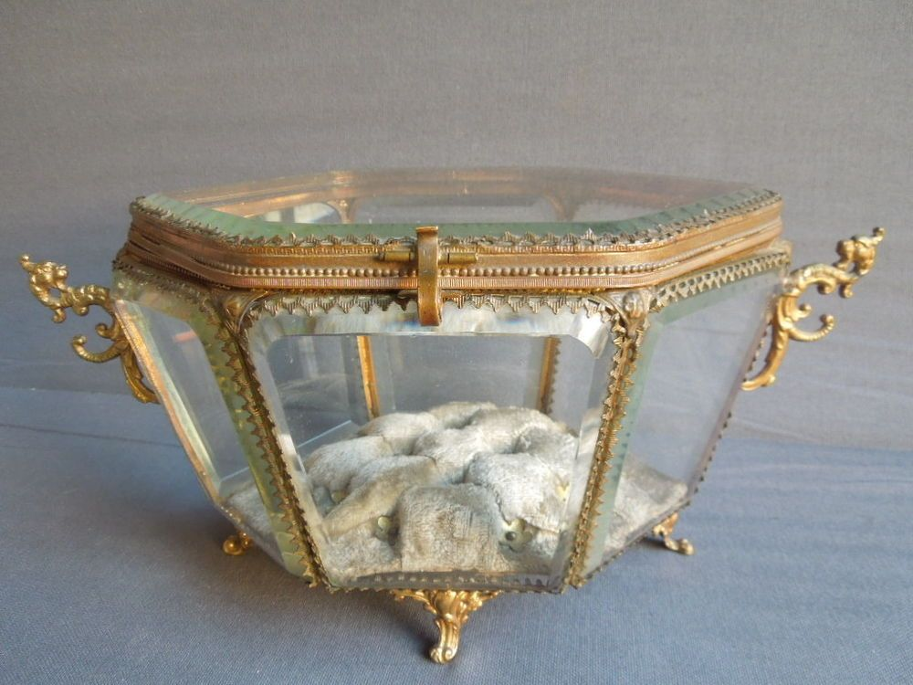 antique jewelry casket box coffret boite a bijoux ancien. Black Bedroom Furniture Sets. Home Design Ideas