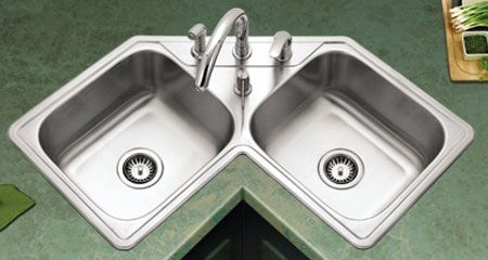 Corner kitchen sinks save space and can be a great addition to ...