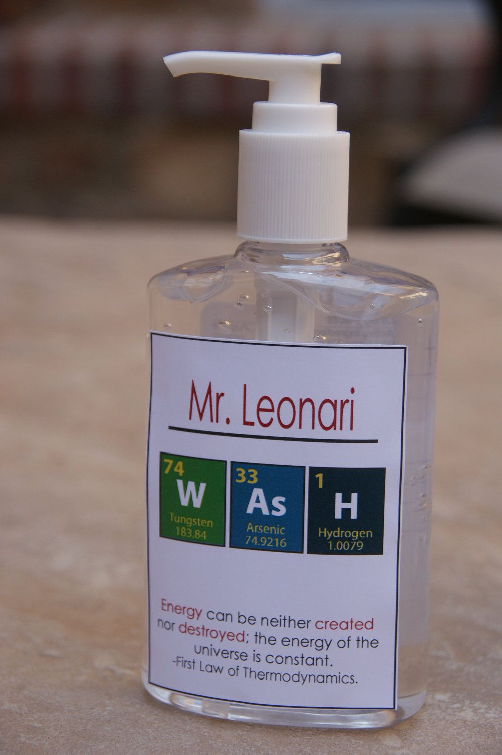 Science Chemistry Teacher Gift Customized Teacher Hand Sanitizer