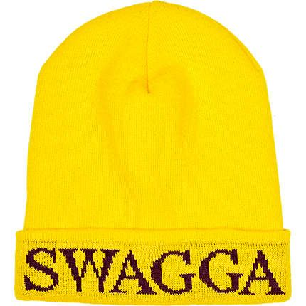 Bright yellow swagga beanie hat €13.00  b7db207dabe