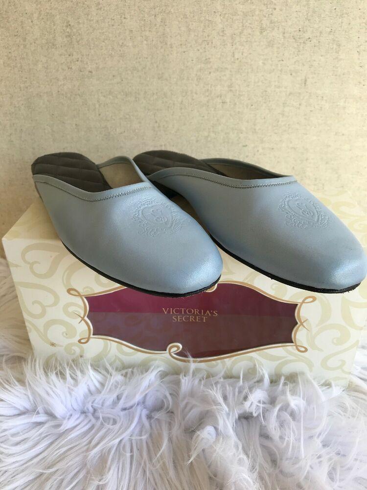 e56429dae75f6 Details about victoria secret vintage logo ballet mule boudoir ...