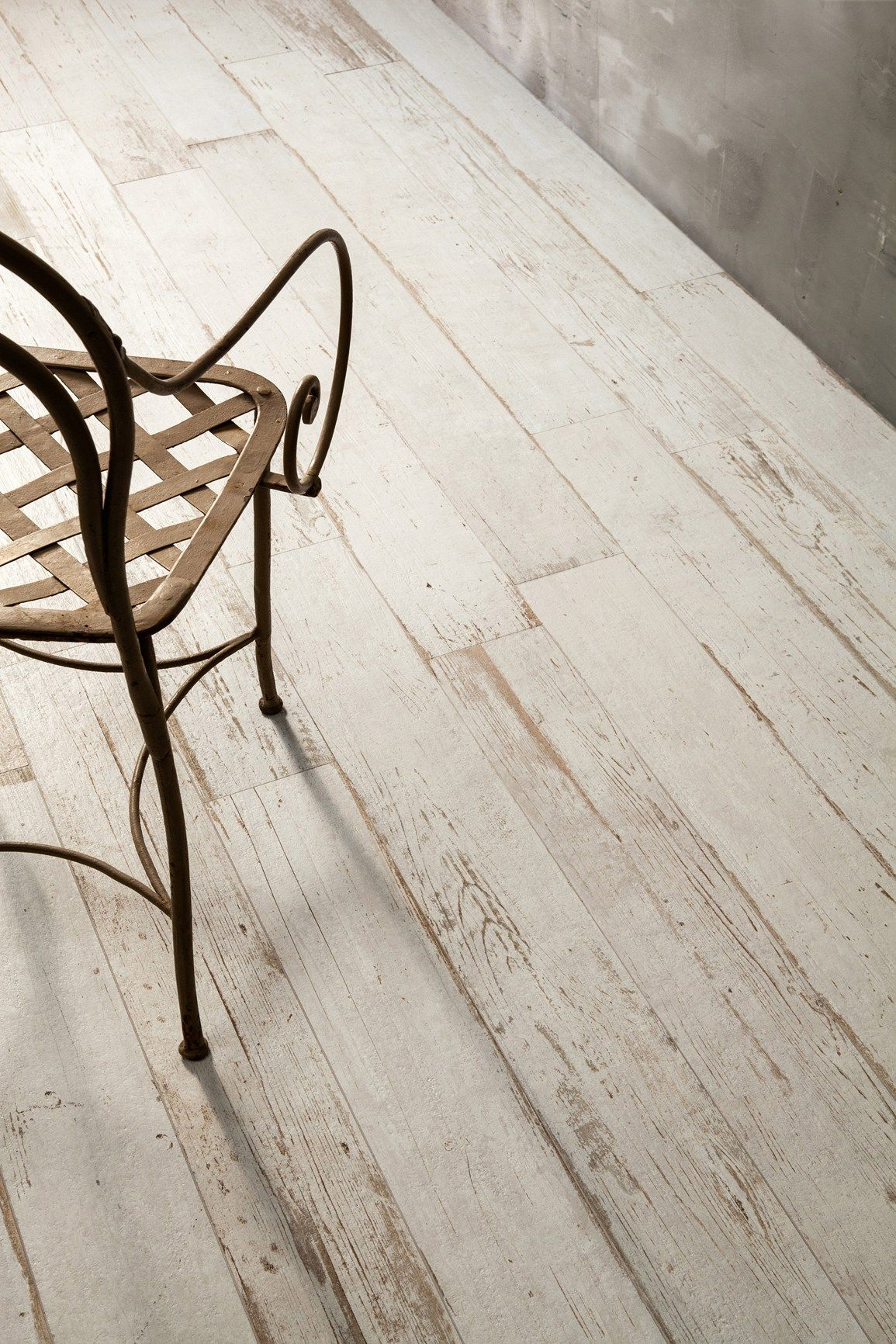this incredible distressed wood floor has a secret its not really wood its wood looking tile introducing blendart the new porcelain tile collection - Distressed White Wood Flooring