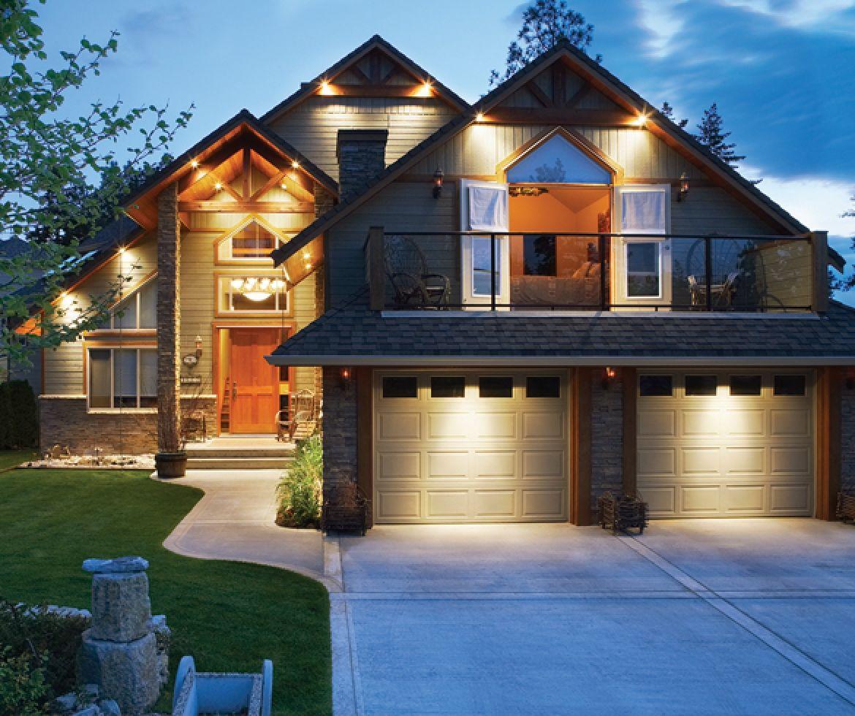 Home lit up at dusk - 13330