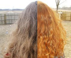 Henna recipes for dying almost any hair colour with photographs of ...