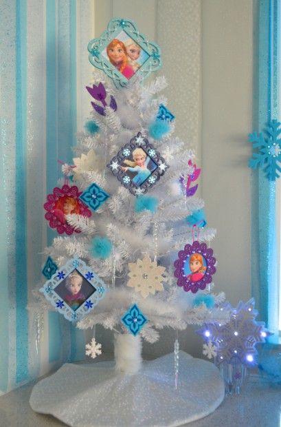 diy disney frozen christmas tree - Small White Christmas Trees