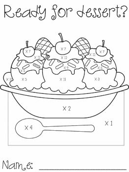 Banana Split Multiplication Multiplication Learning