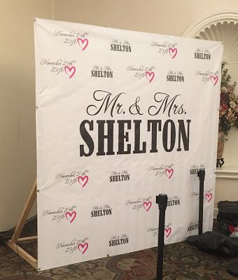 Step And Repeat Banner For Wedding