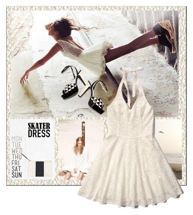 """""""Summer Style: Cutout Skater Dress"""" by ewa-naukowicz-wojcik ❤ liked on Polyvore"""