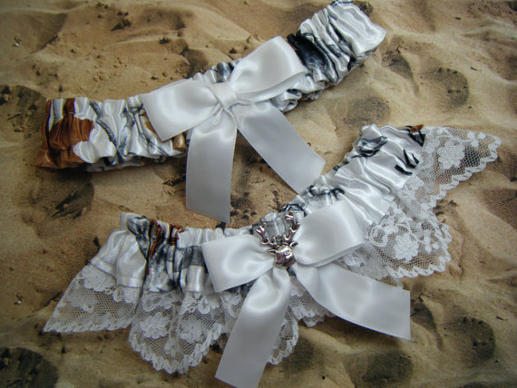 Snow camo camouflage white ribbon white lace deer by for Camo ribbon for wedding dress