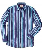 Splendid Stripe Shirt Bright and bold, step out in this brilliant striped shirt. With subtle western styling and a great colour combination, this is a great stripe for the summer.Our model is 61 tall and wears size medium http://www.MightGet.com/january-2017-12/splendid-stripe-shirt.asp
