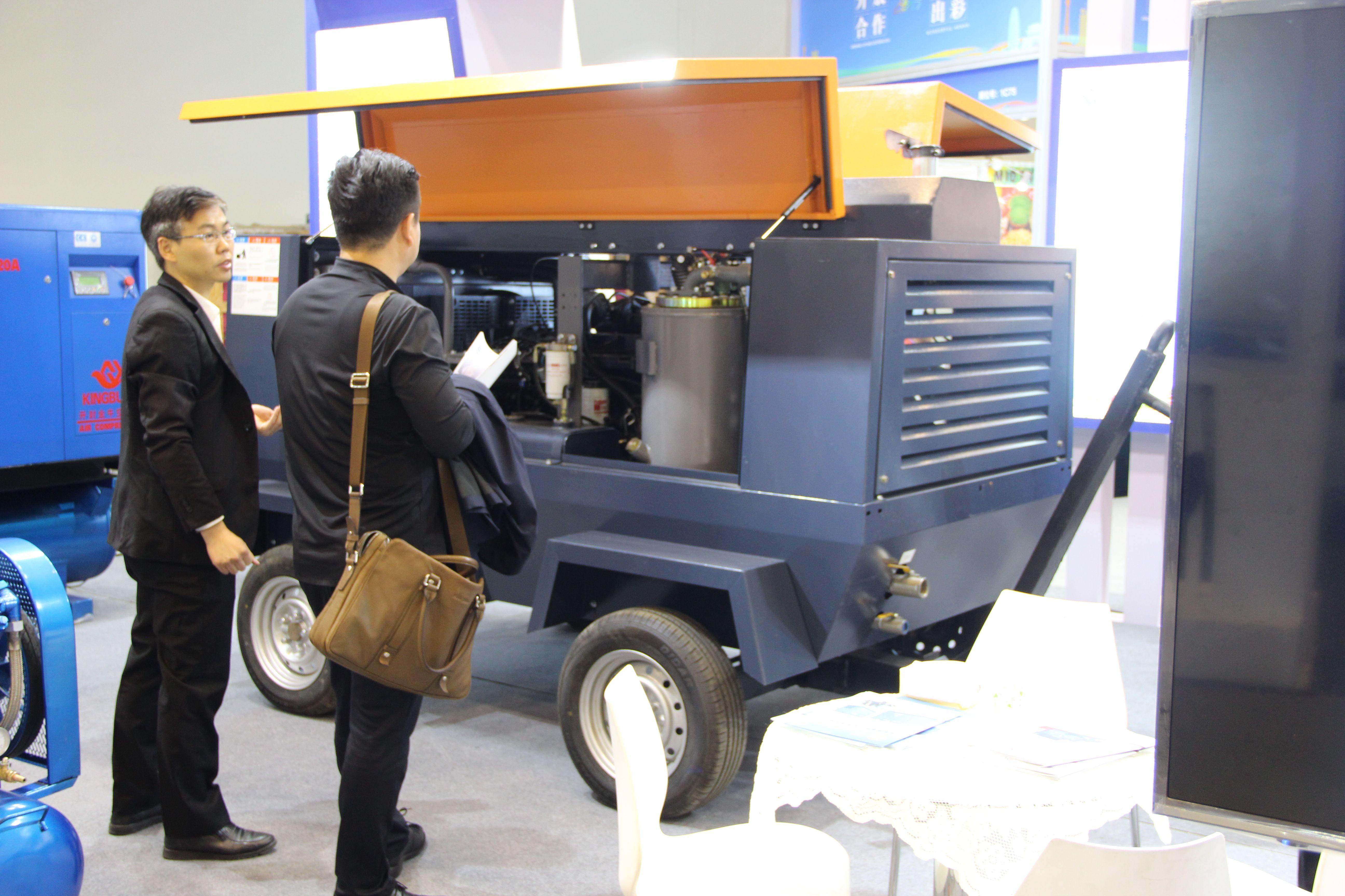 Hot Sale KINGBULL PM VFD Diesel Air Compressor 375 Cfm in