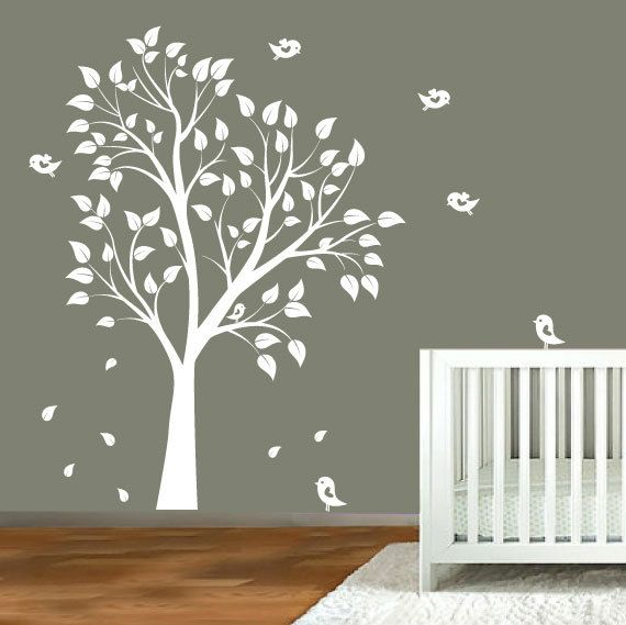 Great Baby Nursery Wall Decals Nursery Garden Tree By ModernWallDecal, $99.00