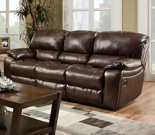 Contemporary Albany Brahma Vintage Brown Bonded Leather Power Reclining Sofa P1750 SO Photo - Best of power reclining sofa Contemporary