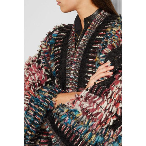 Chloé Wool-blend bouclé-jacquard poncho ($5,025) ❤ liked on Polyvore featuring outerwear and travel poncho