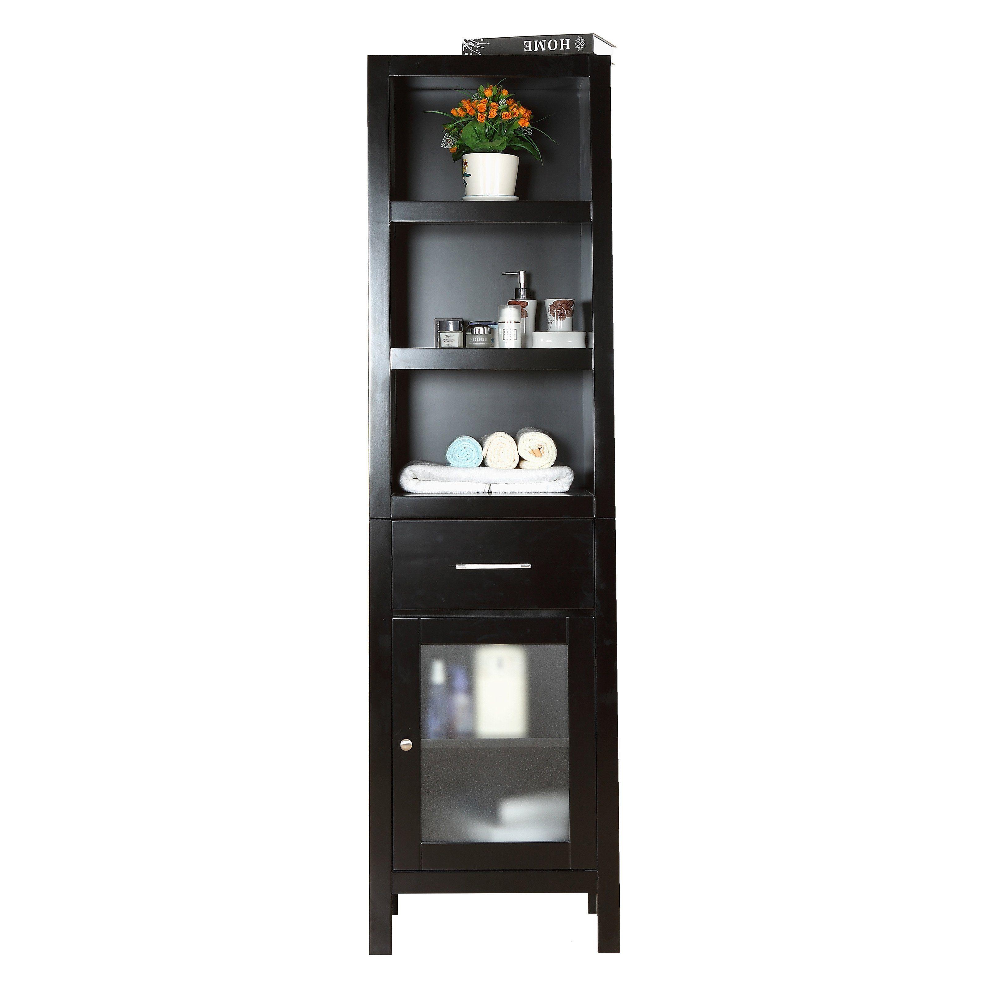 Virtu Usa 20 In Wilson Espresso Linen Tower Www Hayneedle Com Side Cabinet 20 Inch Bathroom Vanity Modern Master Bathroom
