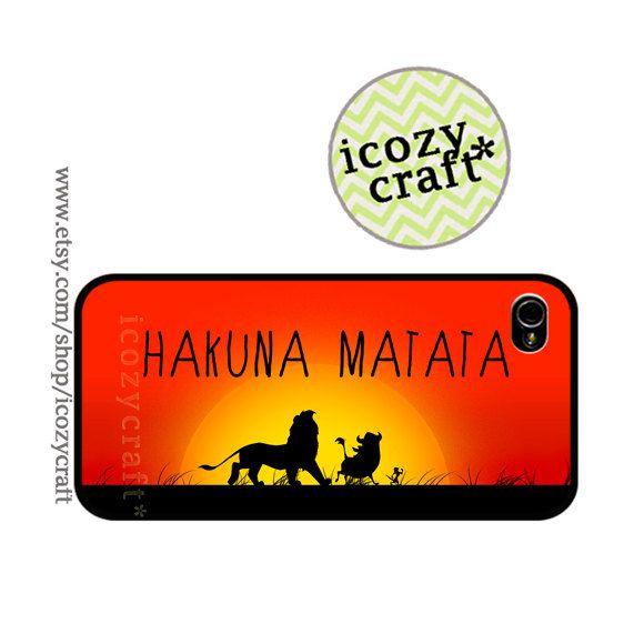 iPhone 5 case  iphone 4s cover iphone 4 Case hakuna matata disney lion king nature african quote plastic case -094. $15.55, via Etsy.