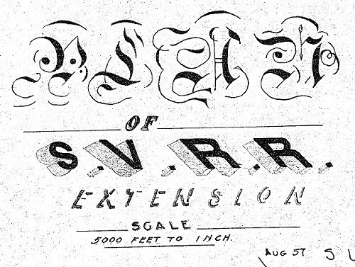 Sacramento Valley Railroad Extension Map, 1857  Can anyone identify
