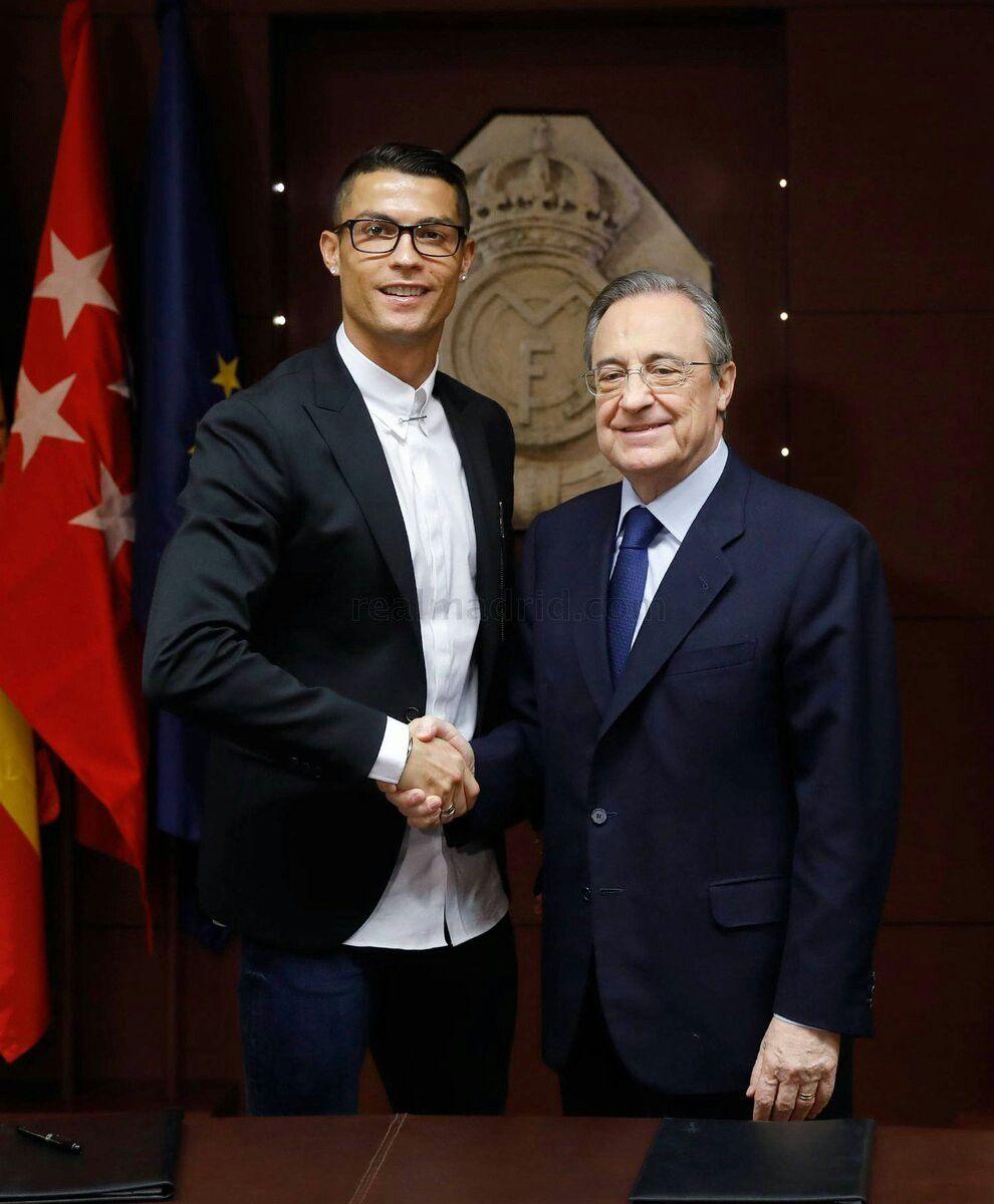 Cristiano ronaldo ceremonia de renovación de contrato con el real
