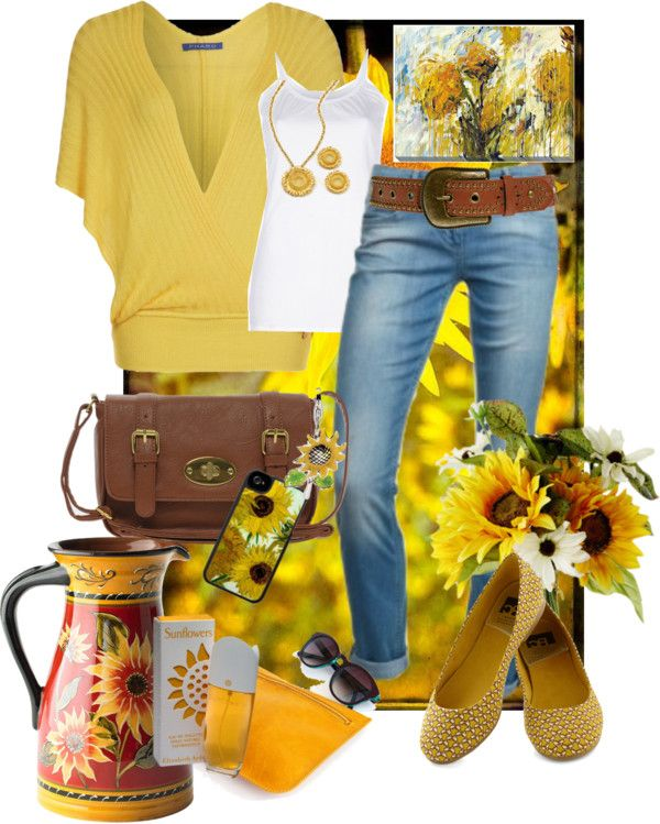 """SunFlower"" by hollyhalverson on Polyvore"