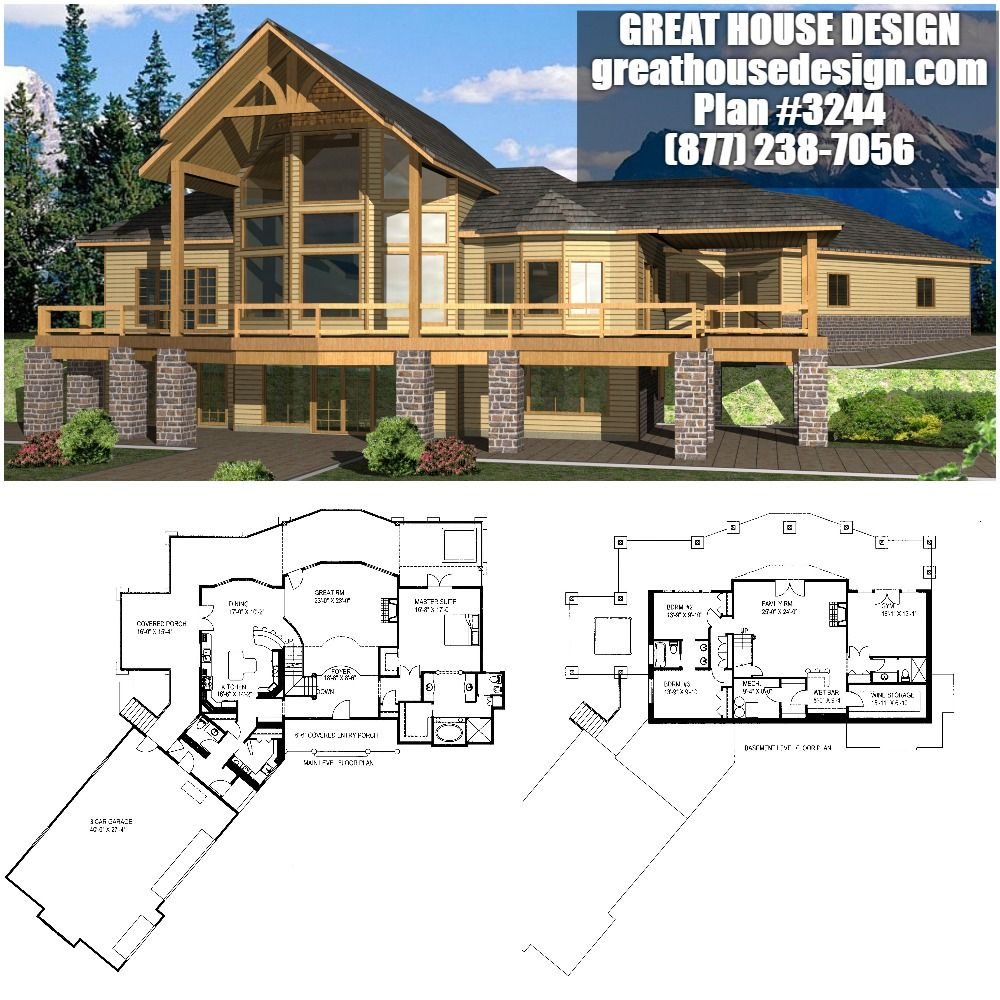 Awe Inspiring Large Mountain Home Plan 3244 Toll Free 877 238 7056 Home Interior And Landscaping Ologienasavecom