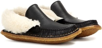 Chloé Shearling-lined Leather Loafers