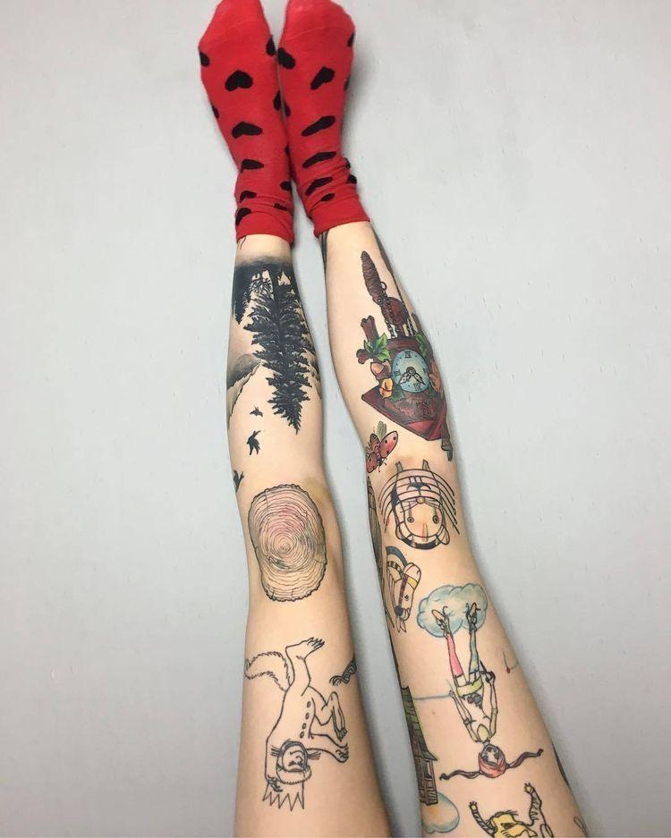 Pin By Pun On Tattoos Knee Tattoo Pretty Tattoos Girl Tattoos