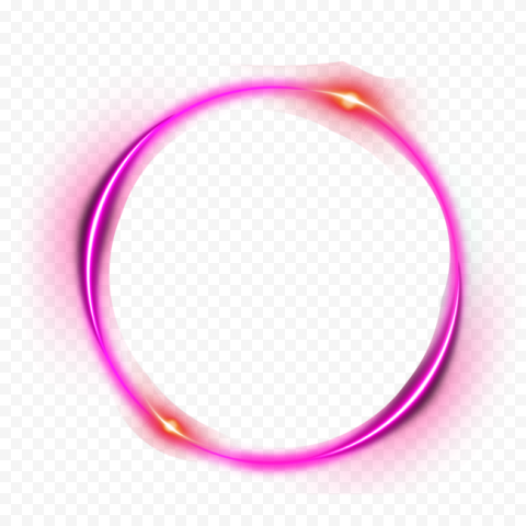 Purple Outline Circle Glow Light Effect Light Effect Glow Purple