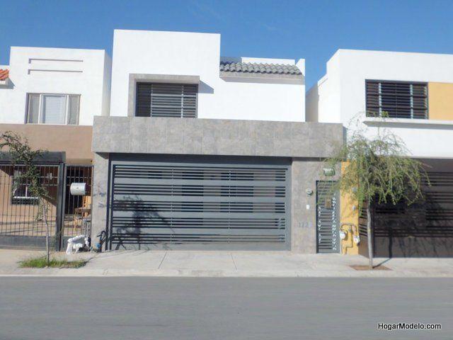 Porton Moderno De Cochera Portones Modernos Para Casas Fachadas De Casas Chicas Fachadas De Casas Modernas