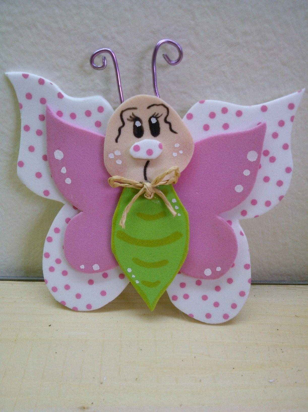 Mariposa en goma eva goma eva pinterest descubre m s - Mariposas goma eva ...