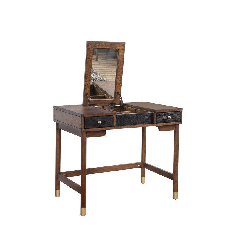 Boleynwood Vanity With Mirror Allmodern How To Antique Wood Furniture Modern Furniture