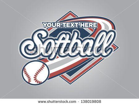 softball logo design templates google search sports branding and rh pinterest com softball logo designs for shirts softball logo design templates