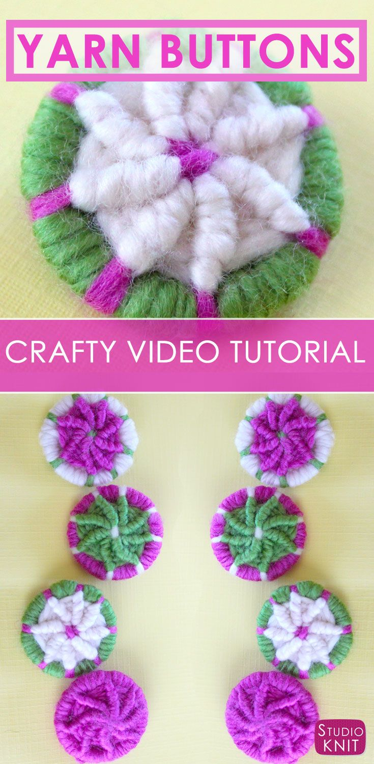 How to Craft YARN DORSET BUTTONS with | Botones, Hilo y Lana