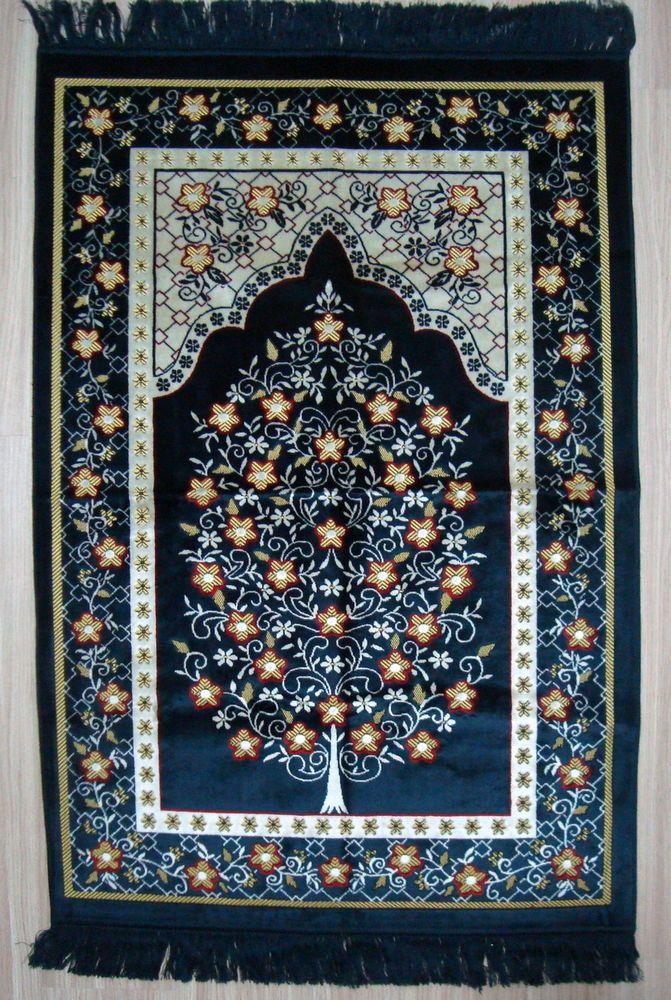 Oversize Battal Soft Thick Velvet Islamic Prayer Rugs Mats Namaz Salat Musallah Gebetsteppich Gebet Islam Kunst