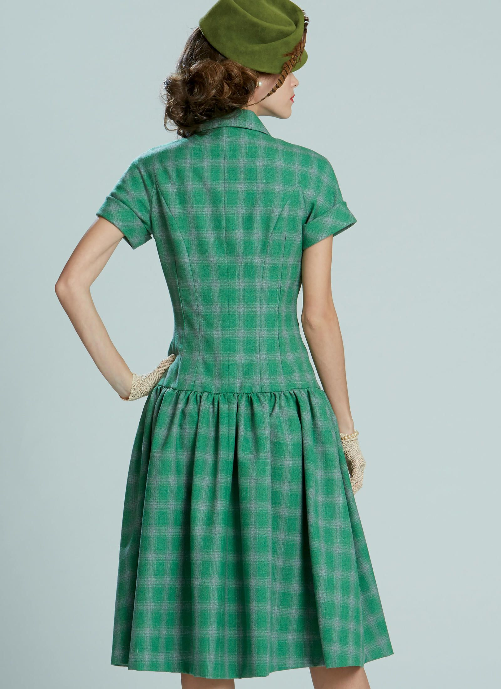 M7625 mccalls patterns fit and flare dress sewing