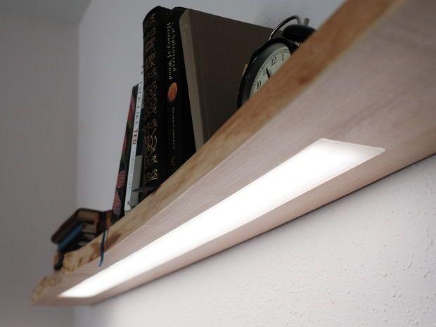 Floating Shelf W Hidden Led Lighting Led Shelf Lighting Shelf Lighting Floating Shelves With Lights