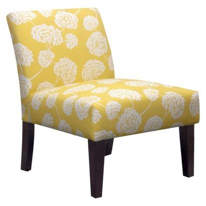 Targetu0027s Avington Armless Slipper Chair   Yellow Floral. If These Are  Comfy, 2 Of