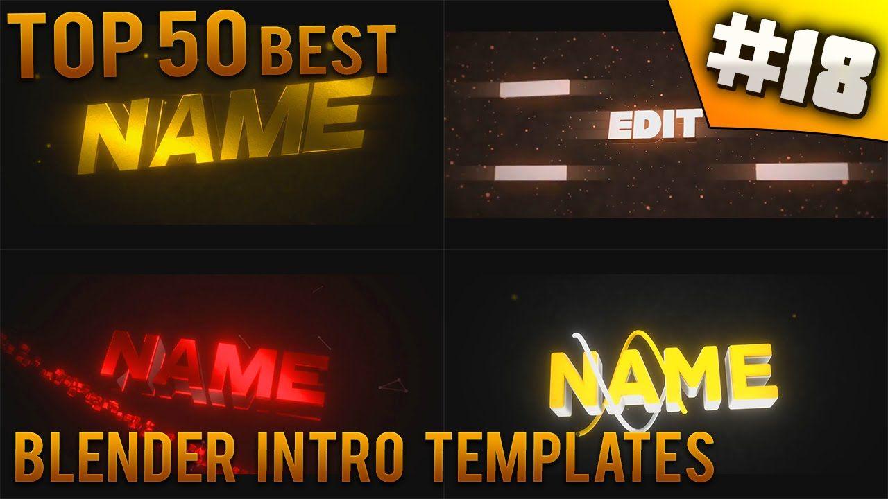 Blender Intro Templates | Top 50 Best Blender Intro Templates 18 Free Download Blender