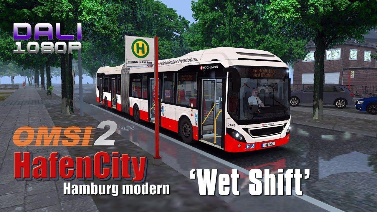 OMSI 2 Add On HafenCity - Hamburg modern 'Wet Shift' On the road