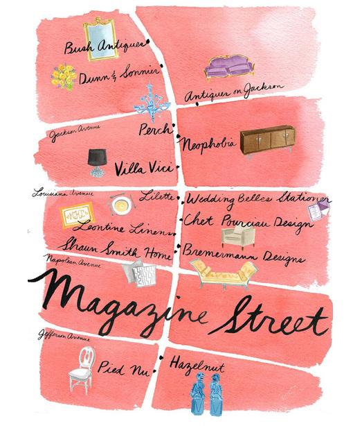 Magazine Street New Orleans Map.Pin By Kyle Tveten On Louisiana Proud New Orleans Wanderlust New