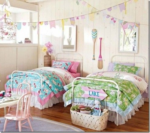 Bedroom Lovely Tween Girl S Bedroom Ideas For Colorful Teenage Life Words Wall Art Decoration Cute Bedroo Twin Girl Bedrooms Kids Rooms Shared Girls Twin Bed