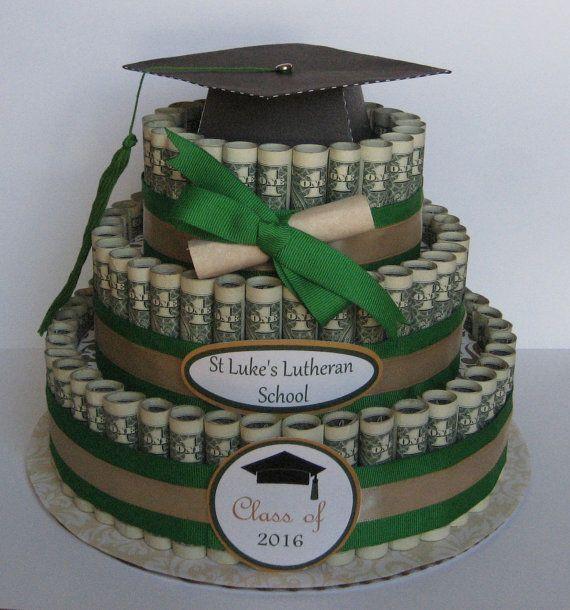 MONEY CAKE A Graduation Class Of  A Fun By CreativeCreationsMC - Money birthday cake images