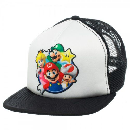 Nintendo Super Mario Group Trucker @ niftywarehouse.com #NiftyWarehouse #Geek #Gifts #Collectibles #Entertainment #Merch